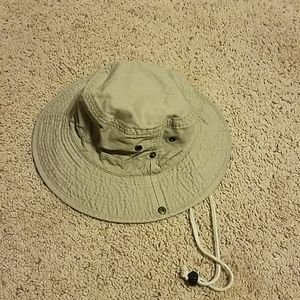 S/M Khaki Cotton Bucket Sun Hat